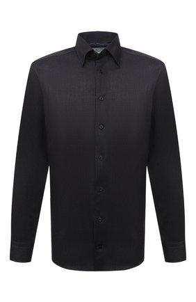 Мужская хлопковая сорочка ETON черного цвета, арт. 1000 01276 | Фото 1