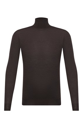 Мужской шерстяная водолазка CORNELIANI коричневого цвета, арт. 86M523-0825126/00   Фото 1