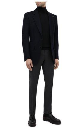 Мужской шерстяные брюки CORNELIANI темно-серого цвета, арт. 864C05-0818537/02   Фото 2