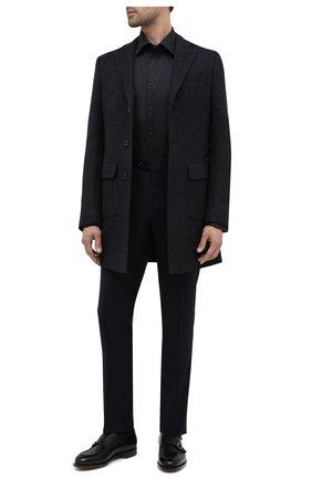 Мужской шерстяные брюки CORNELIANI темно-синего цвета, арт. 864C05-0818537/02   Фото 2