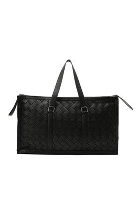 Мужская кожаная дорожная сумка BOTTEGA VENETA черного цвета, арт. 641027/V05I1 | Фото 1