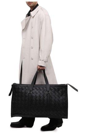 Мужская кожаная дорожная сумка BOTTEGA VENETA черного цвета, арт. 641027/V05I1 | Фото 2