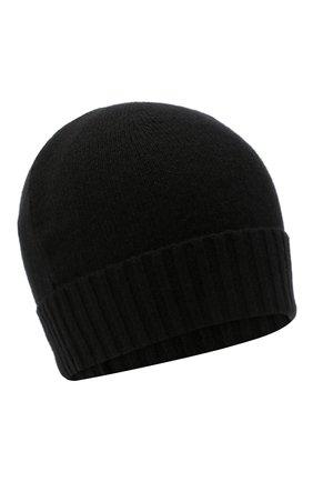 Мужская кашемировая шапка CRUCIANI черного цвета, арт. AU22.030 | Фото 1