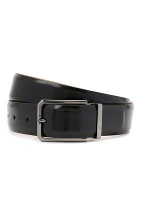 Мужской кожаный ремень SANTONI черного цвета, арт. CM35NS003B90G0BRN01 | Фото 1
