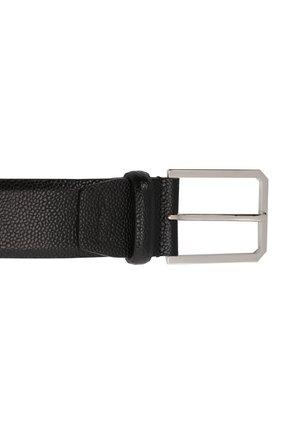 Мужской кожаный ремень SANTONI черного цвета, арт. CM40NS003C07EKICN01 | Фото 3