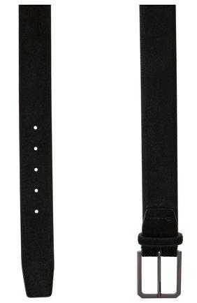 Мужской замшевый ремень SANTONI черного цвета, арт. CM40NS003C07G2M0N01 | Фото 2