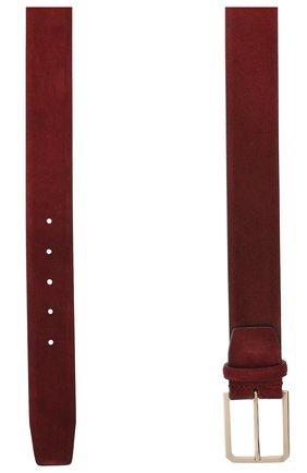 Мужской замшевый ремень SANTONI бордового цвета, арт. CM40NS003C07H2SNB54 | Фото 2