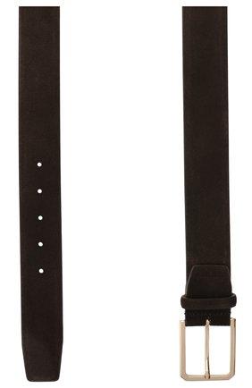 Мужской замшевый ремень SANTONI темно-коричневого цвета, арт. CM40NS003C07H2SNT50 | Фото 2
