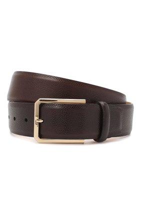 Мужской кожаный ремень SANTONI темно-коричневого цвета, арт. CM40NS003C07HKICT50 | Фото 1