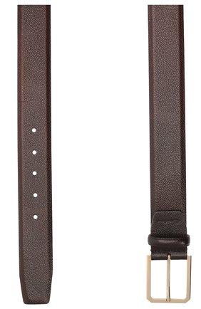Мужской кожаный ремень SANTONI темно-коричневого цвета, арт. CM40NS003C07HKICT50 | Фото 2