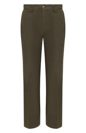 Мужской хлопковые брюки GUCCI хаки цвета, арт. 627977/ZAFDI | Фото 1