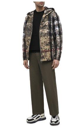 Мужской хлопковые брюки GUCCI хаки цвета, арт. 627977/ZAFDI | Фото 2