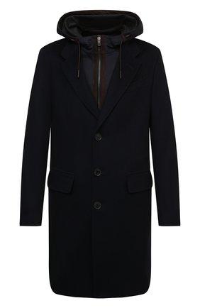 Мужской кашемировое пальто ERMENEGILDO ZEGNA темно-синего цвета, арт. 899503/8GDCS0 | Фото 1