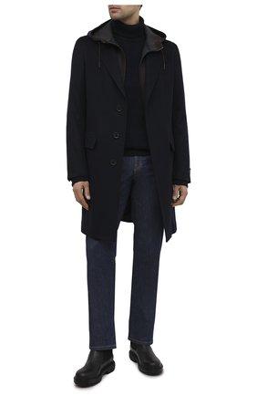 Мужской кашемировое пальто ERMENEGILDO ZEGNA темно-синего цвета, арт. 899503/8GDCS0 | Фото 2
