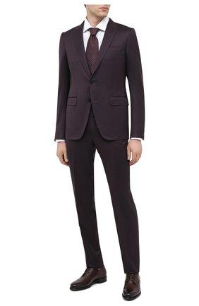 Мужская хлопковая сорочка TOM FORD белого цвета, арт. 8FT00094S3AX | Фото 2 (Рукава: Длинные; Материал внешний: Хлопок; Длина (для топов): Стандартные; Рубашки М: Slim Fit; Случай: Формальный; Стили: Классический)