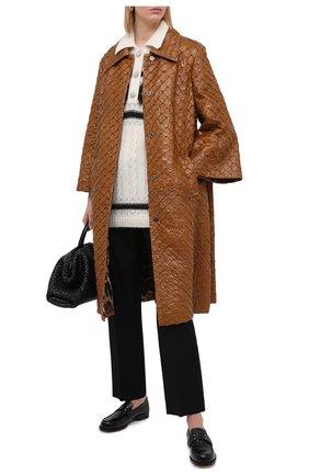 Женское пальто из кожи арапайма DOLCE & GABBANA коричневого цвета, арт. F0AF0L/HULHH/AGIG | Фото 2