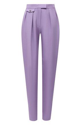 Женские шерстяные брюки BOSS сиреневого цвета, арт. 50448952 | Фото 1