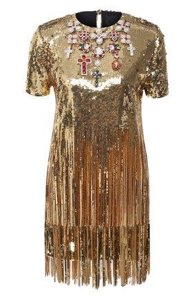 Женское платье PHILIPP PLEIN бежевого цвета, арт. A20C WRG1728 PTE003N | Фото 1