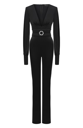 Женский комбинезон из вискозы PHILIPP PLEIN черного цвета, арт. A20C WRG1731 PTE003N | Фото 1