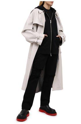 Женский хлопковая толстовка TOSKVA черного цвета, арт. ZIP hoodie-HZ.U.001-W21-F5-900-100   Фото 2