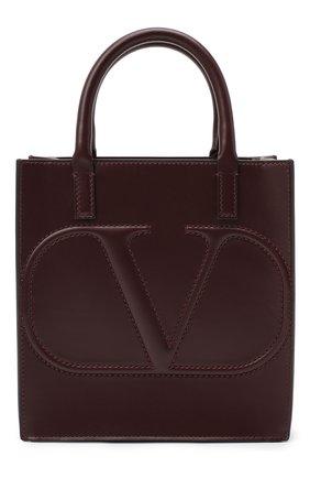 Женская сумка valentino garavani vlogo walk small VALENTINO бордового цвета, арт. UW2B0H23/QEL | Фото 1