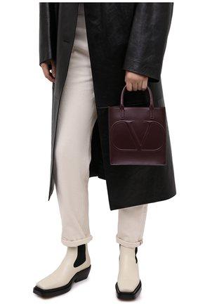 Женская сумка valentino garavani vlogo walk small VALENTINO бордового цвета, арт. UW2B0H23/QEL | Фото 2