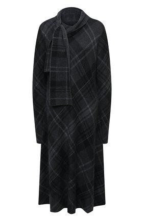 Женское кашемировое платье RALPH LAUREN темно-серого цвета, арт. 293835482 | Фото 1