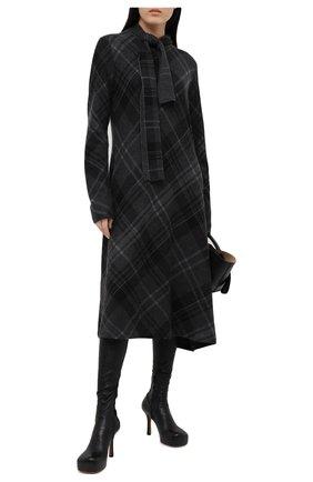 Женское кашемировое платье RALPH LAUREN темно-серого цвета, арт. 293835482 | Фото 2
