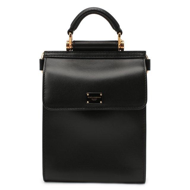 Кожаный кошелек Sicily на цепочке Dolce & Gabbana