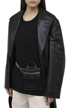 Женские кожаный кошелек sicily на цепочке DOLCE & GABBANA черного цвета, арт. BI2723/AW070 | Фото 2