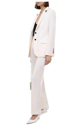 Женские шерстяные брюки DOLCE & GABBANA белого цвета, арт. JD03AT/FUCCS | Фото 2