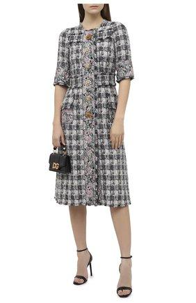 Женское платье DOLCE & GABBANA серого цвета, арт. J0AA0Z/FQMHE | Фото 2