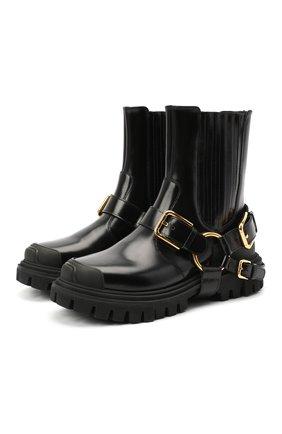 Женские комбинированные ботинки trekking DOLCE & GABBANA черного цвета, арт. CT0689/AW681   Фото 1