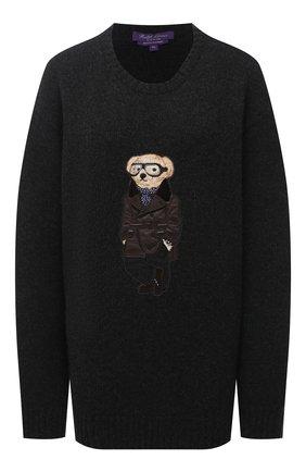 Женский кашемировый пуловер RALPH LAUREN темно-серого цвета, арт. 293835493 | Фото 1