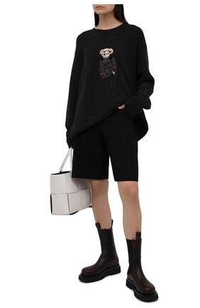 Женский кашемировый пуловер RALPH LAUREN темно-серого цвета, арт. 293835493 | Фото 2