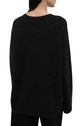 Женский кашемировый пуловер RALPH LAUREN темно-серого цвета, арт. 293835493 | Фото 4