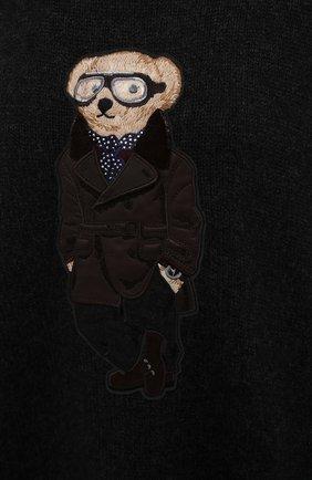 Женский кашемировый пуловер RALPH LAUREN темно-серого цвета, арт. 293835493 | Фото 5