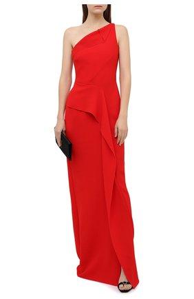 Женское шерстяное платье ROLAND MOURET красного цвета, арт. PW20/S0948/F4044   Фото 2