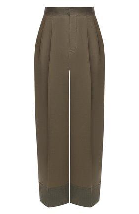 Женские шерстяные брюки Y`S хаки цвета, арт. YR-P43-133 | Фото 1