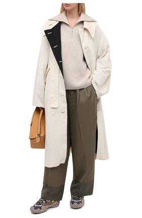 Женские шерстяные брюки Y`S хаки цвета, арт. YR-P43-133 | Фото 2