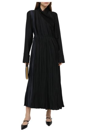 Женские кожаные мюли LOEWE черного цвета, арт. L814S01X14   Фото 2