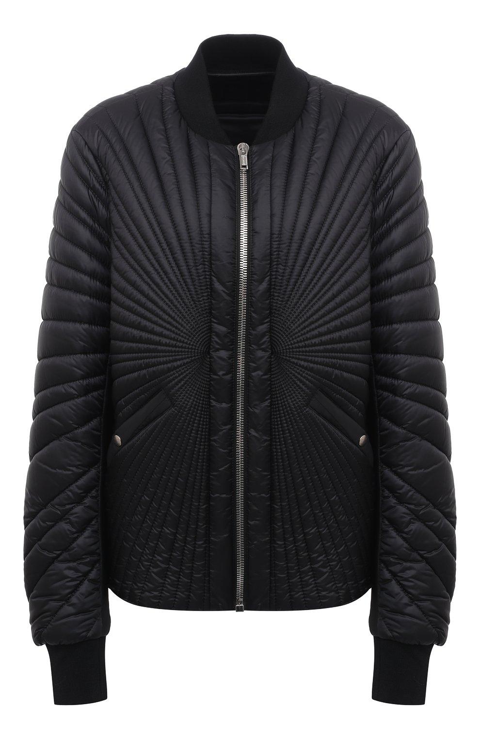 Женский пуховая куртка moncler + rick owens RICK OWENS черного цвета, арт. MU20F0008/C0596 | Фото 1