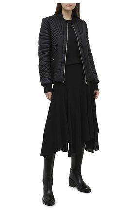Женский пуховая куртка moncler + rick owens RICK OWENS черного цвета, арт. MU20F0008/C0596 | Фото 2