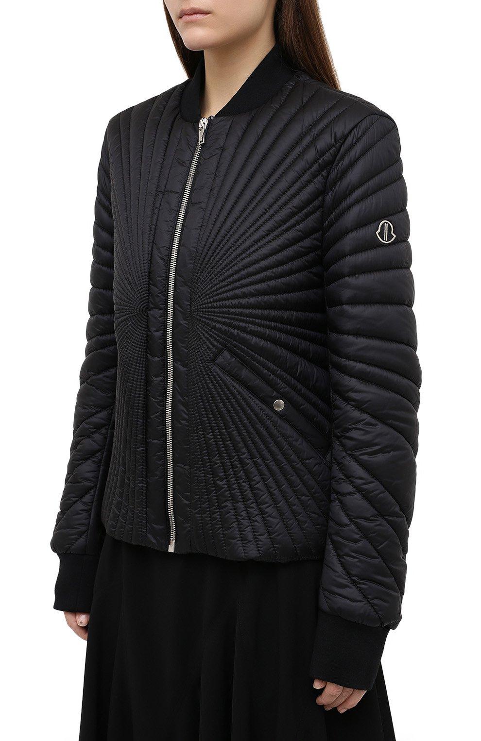 Женский пуховая куртка moncler + rick owens RICK OWENS черного цвета, арт. MU20F0008/C0596 | Фото 3