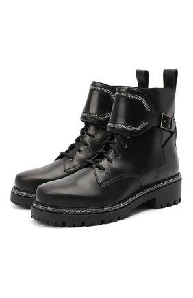 Женские кожаные ботинки RENE CAOVILLA черного цвета, арт. C10860-025-0001V213   Фото 1