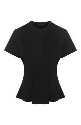 Женская хлопковая футболка ATM ANTHONY THOMAS MELILLO черного цвета, арт. AW1408-GAB | Фото 1