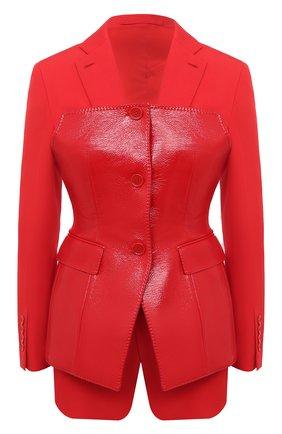 Женский шерстяной жакет BURBERRY красного цвета, арт. 4566104 | Фото 1