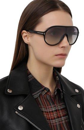 Женские солнцезащитные очки TOM FORD коричневого цвета, арт. TF814   Фото 2