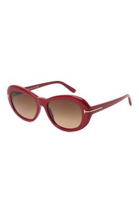 Женские солнцезащитные очки TOM FORD красного цвета, арт. TF819   Фото 1