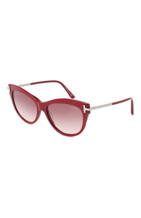 Женские солнцезащитные очки TOM FORD красного цвета, арт. TF821   Фото 1